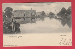 Bree - Het Kanaal / Le Canal ...binnenschipen - 1905 ( Verso Zien ) - Bree