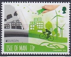 2016 ÎLE DE MAN ISLE OF MAN   EUROPA / CEPT   Think Green ** MNH Vélo Cycliste Cyclisme Bicycle Cyclist Cycling F [ec25]