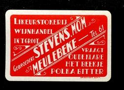 Speelkaart ( 0248 ) 1 Losse Kaart - Publicité Reclame  Wijn Likeur Liqueur Distillerie Stokerij - Meulebeke - Speelkaarten