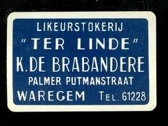 Speelkaart ( 0250 ) 1 Losse Kaart - Publicité Reclame  Wijn Likeur Liqueur Distillerie Stokerij -   Waregem - Speelkaarten