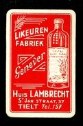 Speelkaart ( 0269 ) 1 Losse Kaart - Publicité Reclame  Wijn Likeur Liqueur Distillerie Stokerij -  THIELT  TIELT - Barajas De Naipe