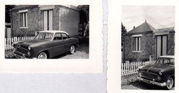 2 Photos Originales 1ère Simca Ariane Des Plus Chic, Toit Blanc Accompagné De Flancs Blancs 20.07.1957 -  296 EN 77 - Cars