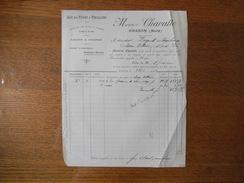 HASNON NORD MAURICE CHAVATTE LIN EN TIGES & TAILLEEES GRAINS & GRAINES FACTURE DU 27/3/1909 - France