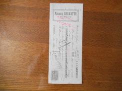 HASNON NORD MAURICE CHAVATTE LINS & GRAINS TRAITE DU 12 FEVRIER 1909 TIMBRE EFFET DE COMMERCE - France