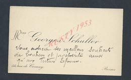 CDV CARTE DE VISITE DE Mr GEORGES SCHULLER À REIMS : - Visitenkarten