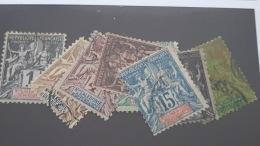 LOT 341368 TIMBRE DE COLONIE NCE OBLITERE N°41 A 48 VALEUR 38,5 EUROS