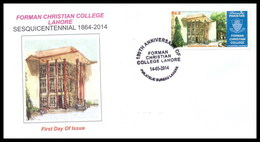 2014 Pakistan Sesquicentennial Forman Christian College, Education, Architecture FDC, First Day Cover