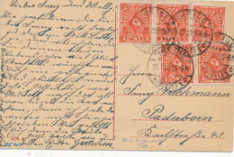 RHEINE  -  29.12.22 , Karte Nach Paderborn - Briefe U. Dokumente