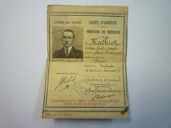 Armée De Terre  :  CARTE D'IDENTITE  -  OFFICIER De Réserve  1928   - Documents