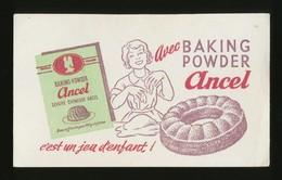 Buvard - Flan ANCEL Baking Powder - Blotters