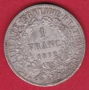 France 1 Franc Cérès 1872 A (petit A) - France