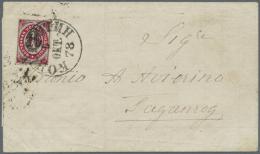 "1876, 8 Kop. On 10 K. Tied ""KONSTANTIN. 5 OKT 1878"" To Folded Envelope Via Odessa Oct. 8  To Taganrog W. Oct. 10..."
