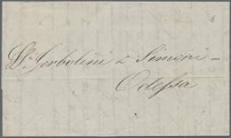 1851, Brief Aus Konstantinopel Mit K2 Der Russ. Post In Schwarz (Jahreszahl Unterstrichen, Dobin 63.2.03a, Ca. 700...