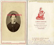 CDV Maria VAUGEOIS Dcd Après La Messe à VERGONCEY (Manche) Le 22 Mars 1881 à 22 Ans-photo Liber Sanson à Avranches - Fotos