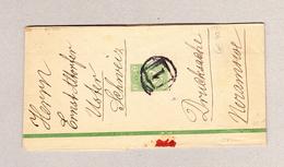 Russland Streifband Drucksache Eindruck 2 K Gestempelt 1 Und Ankunft-O. Uster 15.3.1892 - 1857-1916 Empire