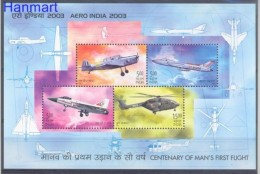 India 2003 Mi Bl 16 MNH -  Helicopters Military Aircraft Others  ( ZS8 INDbl16 )