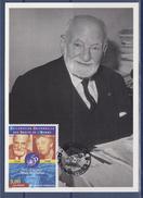 René Cassin Carte Postale Nice 28.12.98 N°3209 Juriste Nobel De La Paix 1968 Au Panthéon Le 5.10.87 - Maximum Cards