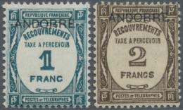 """1932, Postauftrags-Portomarken Von Frankreich Mit Aufdruck """"ANDORRE"""", Einwandfrei Postfrisch, M€600,-. (D)"""