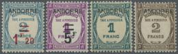 1931 - 1932, Postauftrags-Portomarken Mit Aufdruck 'Andorre', 4 Werte Einwandfrei Postfrisch, (Yvert...