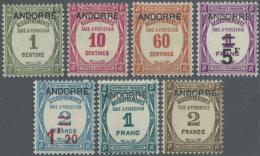 """1931 - 1932, Postauftrags-Portomarken Von Frankreich Mit Aufdruck """"ANDORRE"""", Sauber Ungebraucht. (D)"""