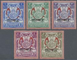 1904, Monogram Of Sultan Seyyid Ali Bin Hamoud Bin Naherud, Complete Set With SPECIMEN Opt., Mint Hinged, SG....