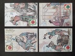 DDR Germany, 1988, 4 Maximum Cards MC MK, Historic Seals, Historische Siegel, Sonderstempel, Commemorative Postmark