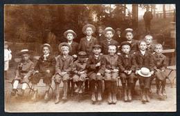 A0386 - Altes Foto Ansichtskarte Vintage - Mode Kinder Mit Hut - Gel 1909 Einsiedel Chemnitz - Moda