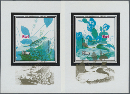 1985, BICENTENARY OF JAMES AUDUBON - 5 Items; Single Dies Of The Souvenir Sheets With Gold Shifted Downwards, Black...