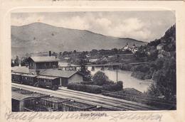 Unter-Drauburg.Oester.-Slowenien. Bahnhof. Prägekarte. - Österreich