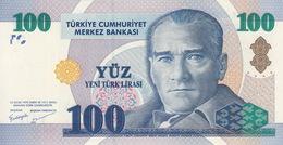 *  TURKEY 100 YENI TURK LIRASI 2005 P-221 UNC PREFIX A [TR299a] - Turkey