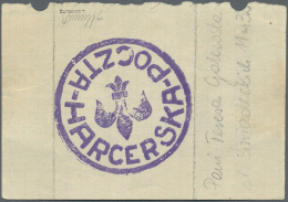 1944, WARSAW UPRISING Scout Post Cancel On Cover, Only With Address And Message. (R) - Scouting