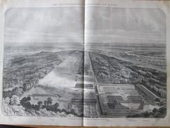 Gravure 1871 Rond-Point Du Madrillet    FORET DE ROUVRAY ROUEN   Oissel      Grand-couronne   Petit-couronne   Casernes - Documentos Antiguos