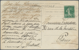"""1924, France. Special Cancel """"Sports D'hiver / Chamonix Mont-Blanc / Janvier 1924"""" On Used Picture Postcard... - Olympic Games"""