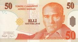 * TURKEY 50 YENI TURK LIRASI 2005 P-220 UNC PREFIX A [TR298a] - Turkey
