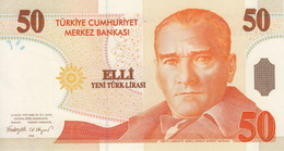 * TURKEY 50 YENI TURK LIRASI 2005 P-220 UNC PREFIX A [TR298a] - Turchia