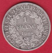 France 1 Franc Cérès 1888 A - H. 1 Franco