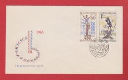 Tchécoslovaquie  --  Env Départ Praha 1  --  24/5/1965 - Czechoslovakia