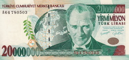 * TURKEY 20000000 TURK LIRASI 2001 P-215 UNC PREFIX A [TR293a] - Turkey