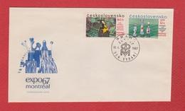 Tchécoslovaquie  --  Env Départ Praha 1  --  10/4/1967 - Czechoslovakia