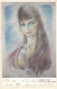 Carte Autographiée D´Henri Mahé,  Adressée Au Colonel REMY (portrait De Sandra Jayat) - Autógrafos