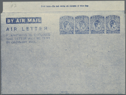 1945, AIR LETTER KGVI 10c. Four Impressions In Dark Blue On White Paper Fine And Fresh Unused, Scarce Item! Rodrigo... - Sri Lanka (Ceylon) (1948-...)