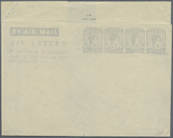 1944, AIR LETTER KGVI 10c. Four Impressions In Pale Greyish Blue On Cream Paper In Type Ia, Unused With Minor... - Sri Lanka (Ceylon) (1948-...)