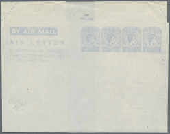 1944, AIR LETTER KGVI 10c. Four Impressions In Pale Blue On White Paper In Type I, Unused With Minor Blemishes... - Sri Lanka (Ceylon) (1948-...)