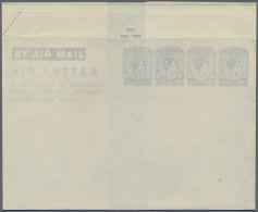 1944, AIR LETTER KGVI 10c. Four Impressions In Pale Greyish Blue On Cream Paper In Type II, Fine Unused And Very... - Sri Lanka (Ceylon) (1948-...)