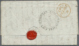 """1847 Entire Letter From Colombo To London 'per Overland Mail Via Galle & Marseilles' Handstamped Black """"COLOMBO... - Sri Lanka (Ceylon) (1948-...)"""