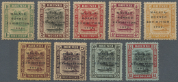 1922, 1c. To $1, Complete Set Of Nine Values, Mainly Fresh Colours, Well Perforated, Mint O.g. (toned). (R) - Brunei (1984-...)