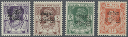 1947 Interim Burmese Government Issue 3p., 9p. And 1½a. All With Overprint Inverted Plus 6p. Overprint... - Burma (...-1947)