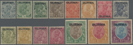 1937 KGV. Short Set To 5r. (15v), Mint Lightly Hinged, 1r. And 2r. With A Few Black Paper Fibers On Back, Still... - Burma (...-1947)