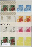 1968, OLYMPIC GAMES MEXICO ´68, Discus Throwing - 8 Item; Progressive Plate Proofs For The 1.05Nu. Nomination... - Bhutan