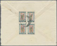 "1922, 20 K. Imperf., A Block-4 Canc. ""BAKU 26.3.20"" To Reverse Of Inland Cover. (R) - Azerbaïjan"